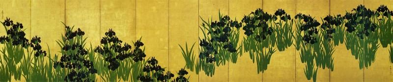 燕子花(かきつばた)図屏風