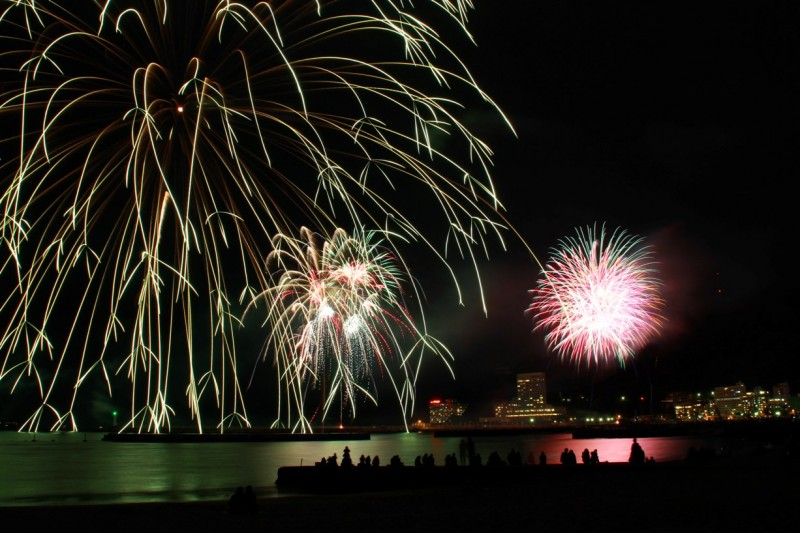 昨夜の熱海海上花火大会