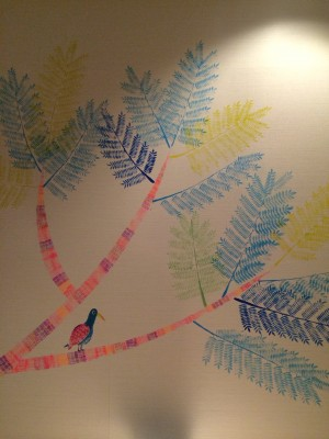 712号室ジャカランダと鳥